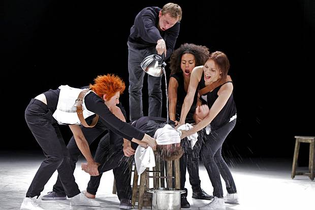 Belarus Free Theatre's King Lear. Alex Sidorchik as King Lear. Photo: Courtesy of Shakespeare's Globe.