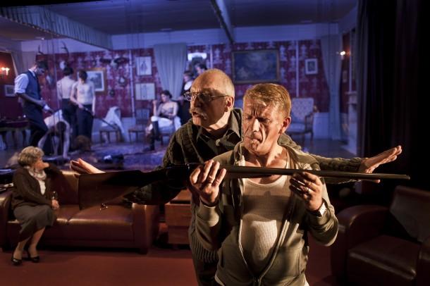 Elfriede Jelinek´s Rechnitz (The Exterminating Angel), directed by David Jařab. Slovak National Theatre. Photo: Andrej Balco.