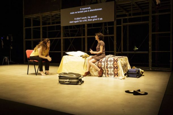 Mohammad de Attar's play Alors que j'attendais, directed by Omar Abusaada. Photo: Christophe Raynaud de Lage.
